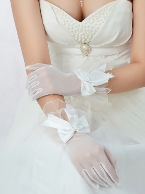 Best Tüll Schleifen Bridal Gloves