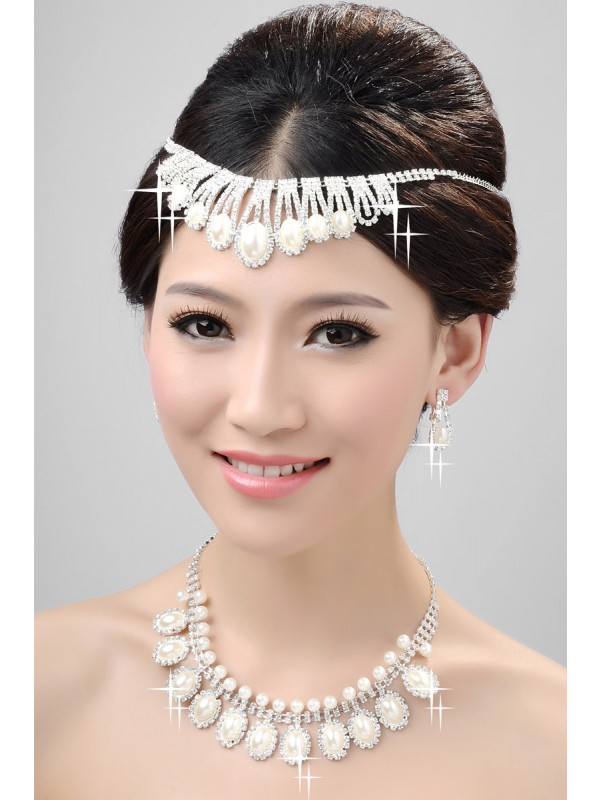 Nice Alloy Clear Kristalles Wedding Party Earrings Set