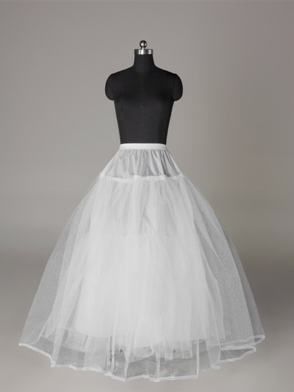 Tüll Netzting Ball-Gown 3 Tier Floor Length Slip Style Wedding Petticoat