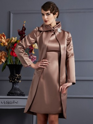 Satin Lange Ärmel Special Occasion Fashion Wrap
